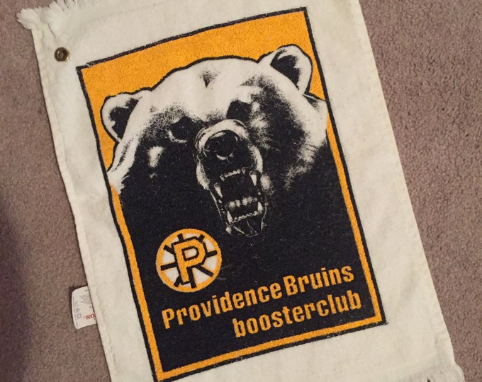 VINTAGE AHL hockey Providence Bruins Towel Boston sports nhl Boston Bruins sports collectibles Boston Providence Warwick Cranston Coventry