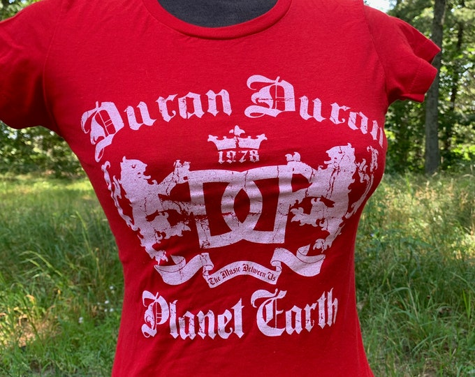 Duran Duran Band Shirt Simon Le Bon Nick Rhodes John Taylor Andy Taylor MTV (Ladies M) Planet Earth Hungry Like the Wolf Rio Girls on Film