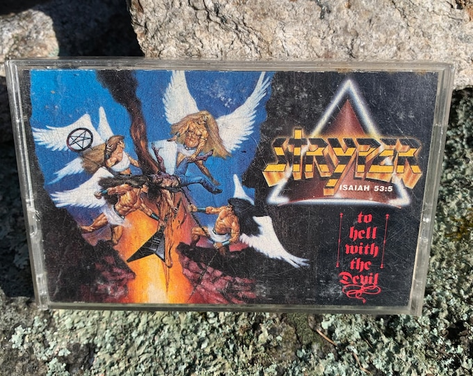 Vintage Rare Alternate Cover 1986 STRYPER To Hell With The Devil Cassette Tape Michael Sweet Bret Michaels Whitesnake Cheap Trick Whitecross