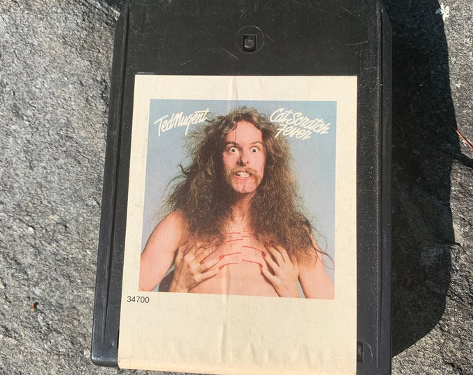Ted Nugent Cat Scratch Fever 8 Track Tape Amboy Dukes  Eric Clapton Bachman Turner Overdrive Frank Marino Rory Gallagher Alvin Lee Aerosmith