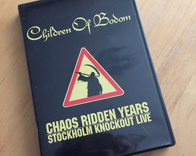 Children of Bodom Chaos Ridden Years  DVD Alexi Laiho Stockholm Knockout Live Death Metal Heavy Metal Black Metal Arch Enemy Amon Amarth