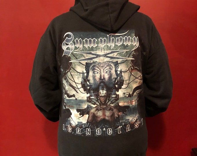 Symphony X Hoodie (M) Epica Delain Kamelot Xandria Sonata Arctica Arch Enemy Within Temptation Blind Guardian Stratovarius NIghtwish Kings X