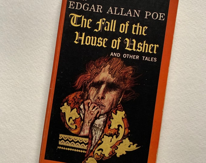 Vintage 1962  Edgar Allan Poe Fall of the House of Usher Terror Paperback Book Vincent Price Gothic Goth Writer Novel Horror The Black Cat