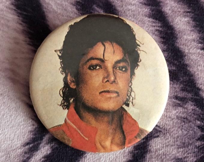 Vintage Michael Jackson Pin Badge Pinback Dance Collectibles Pins RocknRoll Quincy Jones Jackson Five J5 Thriller  King Of Pop Diana Ross