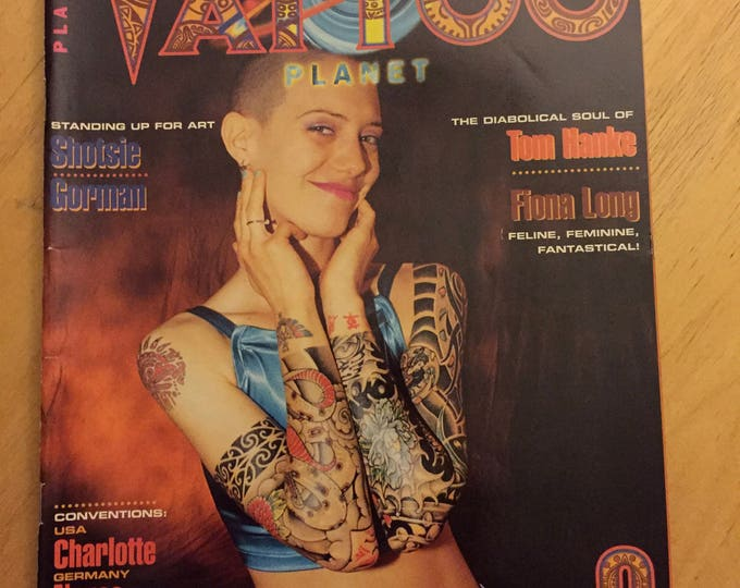 Tattoo Planet Dec 1997  Worldwide Atomic Tattoo Magazine Shotsie Gorman tattoos inked tattooed tattooing tattooer tattooflash sexy body art
