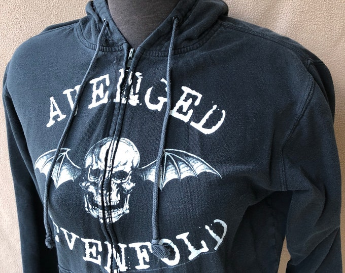 Avenged Sevenfold Woman's Small Zip Hoodie - Black and White Hoody Matt Shadows Syn Gates Zacky Vengeance A7X The Rev Jimmy Sullivan FFDP
