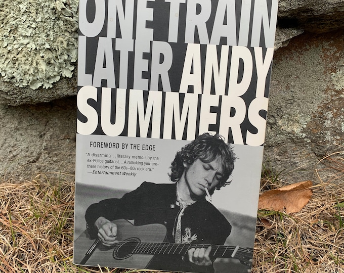 Andy Summers One Train Later Softcover Book The Police Punk STING Roxanne PoliceBand Stewart Copeland IRS Records The Cars XTC The Clash Ska