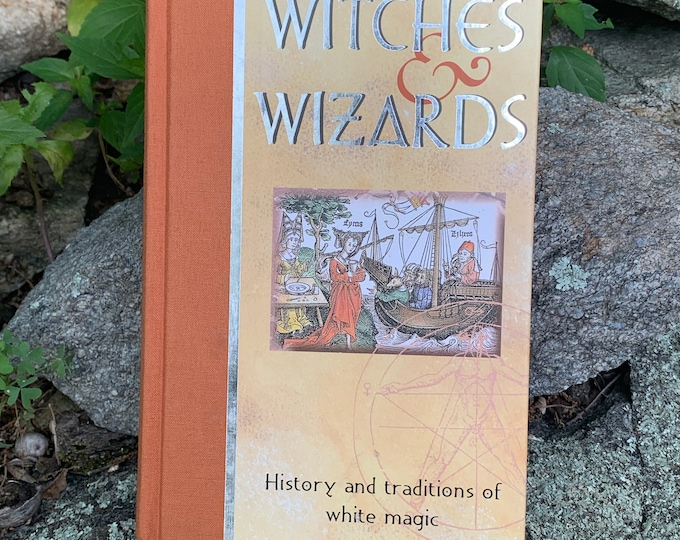 The Learned Art of Witches & Wizards  2001 Hardcover Book Witch Occult Tarot Crystals Witchy Goth Gothic Sorcerer Pagan Witchcraft Paganism