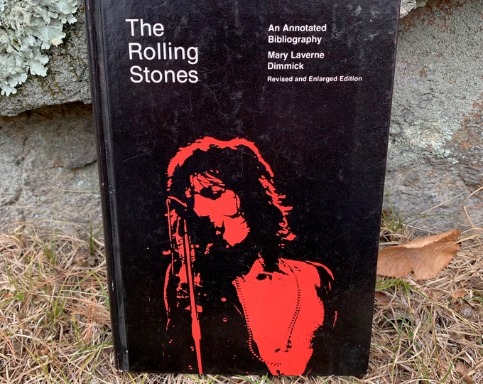 Vintage 1979 The Rolling Stones An Annotated Bibliography Hardcover Book Mick Jagger Charlie Watts Bill Wyman Ron Wood Keith Richards