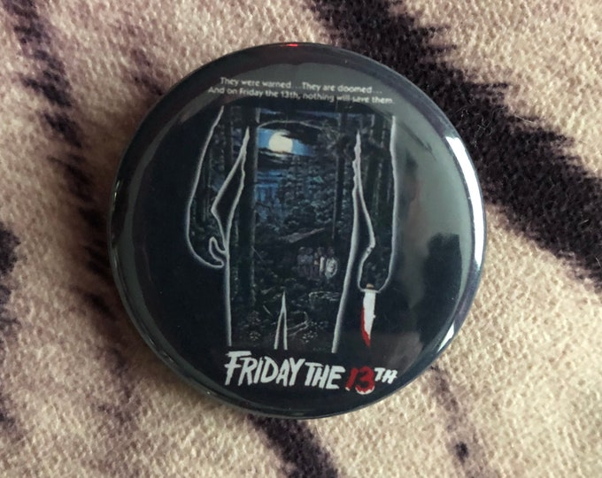 Friday The 13th Pin Badge Pinback Collectibles Horror Jason Voorhees Camp Crystal Lake Halloween Michael Myers The Exorcist Freddy Kreuger