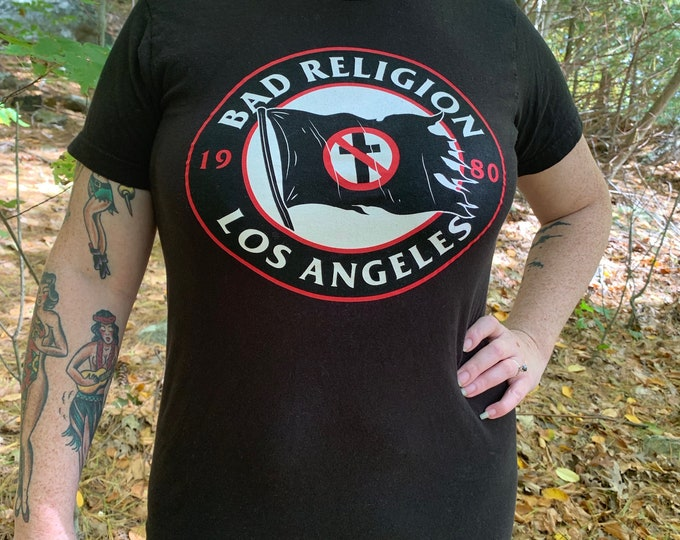 Bad Religion Band Shirt Punk Rock (S) NOFX Rancid Recipe for Hate Misfits Anti Flag Pennywise The Vandals Guttermouth Lagwagon Dead Kennedys