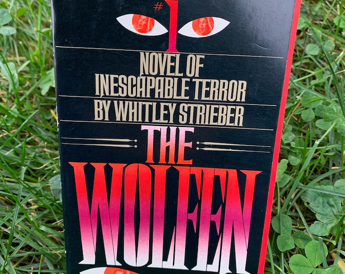 The Wolfen by Whitley Strieber Vintage Book 1979 Softcover The Wolfman Vampire Horror Wolf HP Lovecraft Stephen King Bela Lugosi Dracula