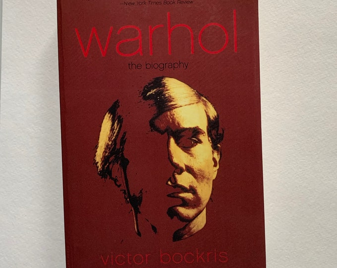 Andy Warhol The Biography Softcover Book 2003 Velvet Underground Lou Reed Edie Sedgwick Allen Ginsberg CBGB Jim Morrison David Bowie Nico