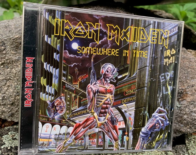 Iron Maiden Somewhere In Time CD Bruce Dickinson Steve Harris NWOBHM Up the Irons Accept Motorhead Metalhead Saxon Metallica Wasted Years