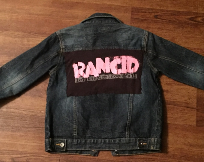 Denim Kids Unisex Rancid - Let the Dominoes Fall Punk Jacket Battle Jacket - Tim Armstrong Op Ivy Green Day Punk Kid