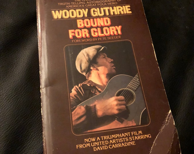 Vintage Woody Guthrie Paperback Softcover Book - 1970 - Folk Music Pete Seeger Arlo Guthrie Hank Williams Neil Young Phil Ochs Johnny Cash