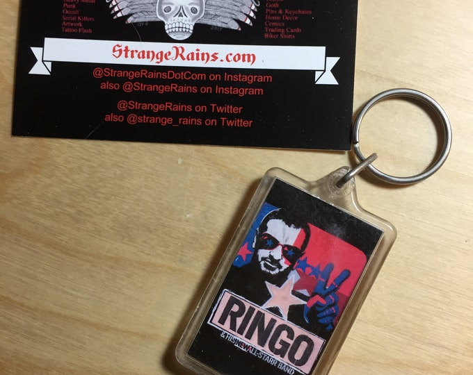 Ringo Starr all star band 2011 Keychain - The Beatles Ringo Drums drummer drumming key keys drumsticks drumset drumkit cymbals percussion