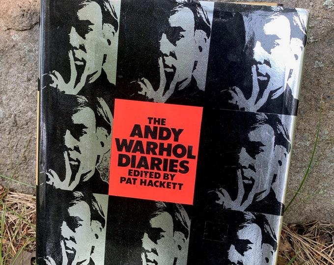 Andy Warhol Diaries 1989 Art Hardcover Book Velvet Underground Lou Reed Edie Sedgwick Allen GinsbergJim Morrison David Bowie Marilyn Monroe