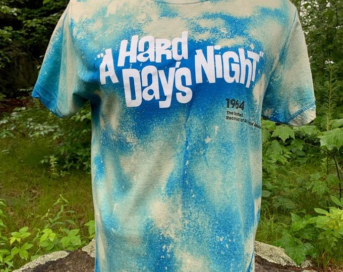 Distressed BEATLES Hard Days Night Band Shirt (S) John Lennon Paul McCartney Revolver Ringo Starr George Harrison Fab4 A Day in the Life
