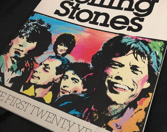 The Rolling Stones The First Twenty Years by David Dalton 1981 Softcover Book  Mick Jagger Keith Richards CharlieWatts Ron Wood Bill Wyman