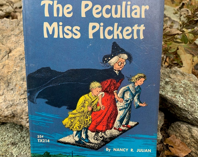 Vintage 1965 The Peculiar Miss Pickett Witch Softcover Book Occult Tarot Witches Witchy Salem Coven Pagan Folk Magic Craft Pentacle Witchy