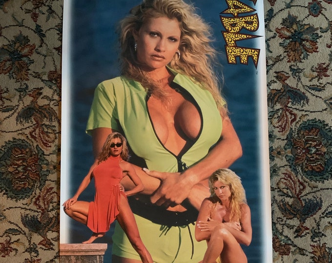 Sexy Vintage 1998 WWE Sable Babe Poster Pinup Fitness Model Busty Playboy Wrestling Brock Lesnar Becky Lynch Trish Stratus Torrie Wilson
