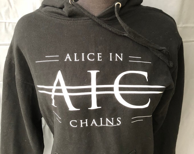 Alice In Chains Black Pullover Hoodie Layne Staley Jerry Cantrell Grunge Hoody Band Shirt Nirvana Pearl Jam Soundgarden Stone Temple Pilots