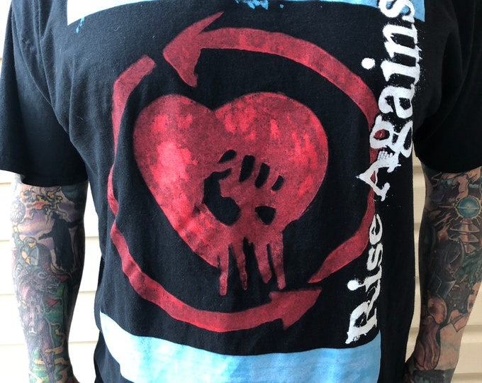 Rise Against  - Metal - Punk - Unisex Tshirt -Sz XL Rock Tee Band Shirt Punks ffdp bfmv Against Me A Day To Remember Anti Flag Pennywise