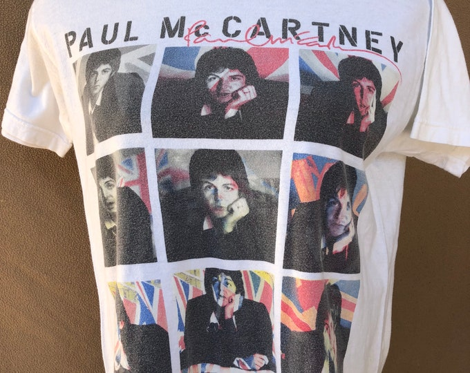 Paul McCartney Concert Shirt - 2014 Tour Shirt - Beatles (Med) Band Shirt Wings Beatles Band on the Run Band Tee John Lennon George Harrison