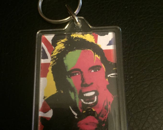 Sex Pistols Punk Keychain - Johnny Rotten Sid Vicious UK Punk Anarchy Pretty Vacant Anarchy God Save the Queen