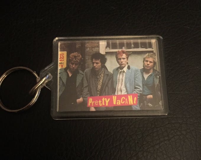 Sex Pistols Punk Keychain - Johnny Rotten Sid Vicious UK Punk Pretty Vacant Paul Cook Steve Jones Anarchy Pretty Vacant the Clash