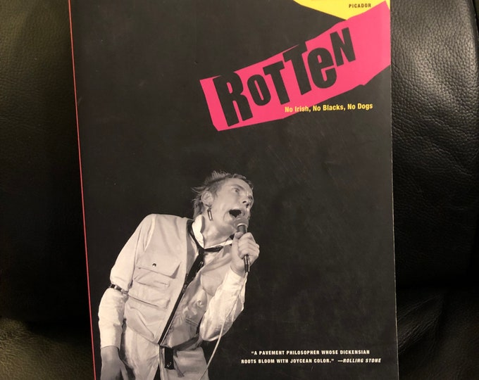Vintage John Lydon Softcover Book - 1994 -  Johnny Rotten Sex Pistols Punk Anarchy God Save the Queen Nevermind The Bollocks Sid Vicious
