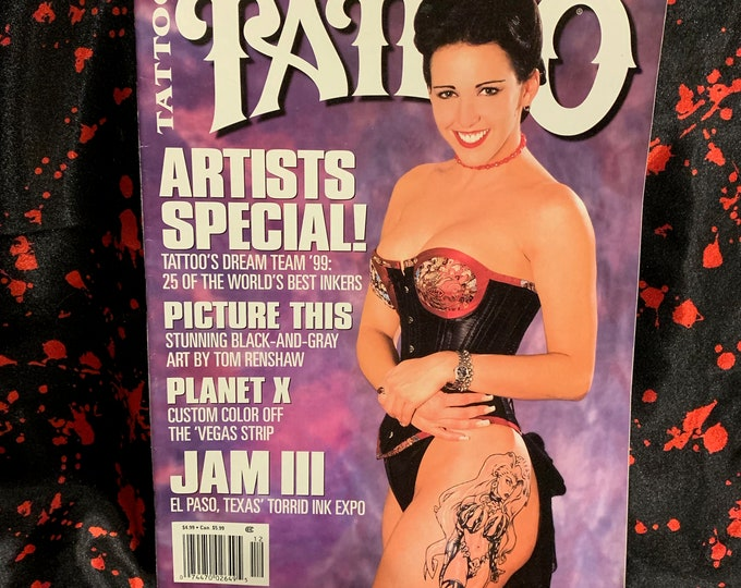 Vintage Tattoo Magazine ~ World's Largest Selling Tattoo Magazine ~ Dec 1999 Tattoos Inked Tattooist Tattooer Tattoo Shop Tattooing Koi Fish