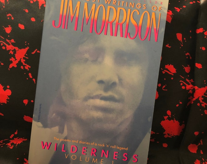 Vintage Jim Morrison Softcover Book - 1988 -  Wilderness Vol. 1 The Doors Poet Poetry Bob Dylan Jim Carroll Books Oscar Wilde Patti Smith