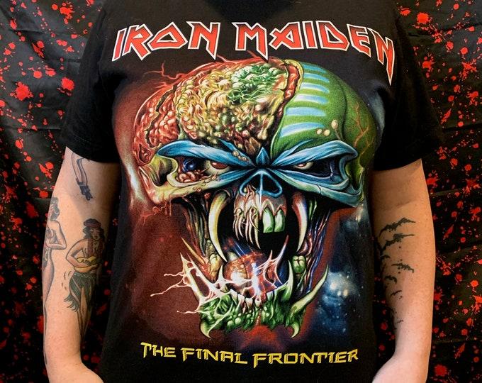 Iron Maiden Tshirt (M) Band Shirt Bruce Dickinson Janick Gers Adrian Smith Dave Murray Nicko McBrain Judas Priest DiAnno Motorhead Saxon