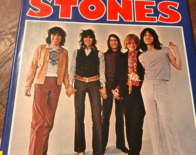 Vintage 1977 Rolling Stones Hardcover by Tony Jasper - Mick Jagger Keith Richards Charlie Watts Bill Wyman Ron Wood Glimmer Twins