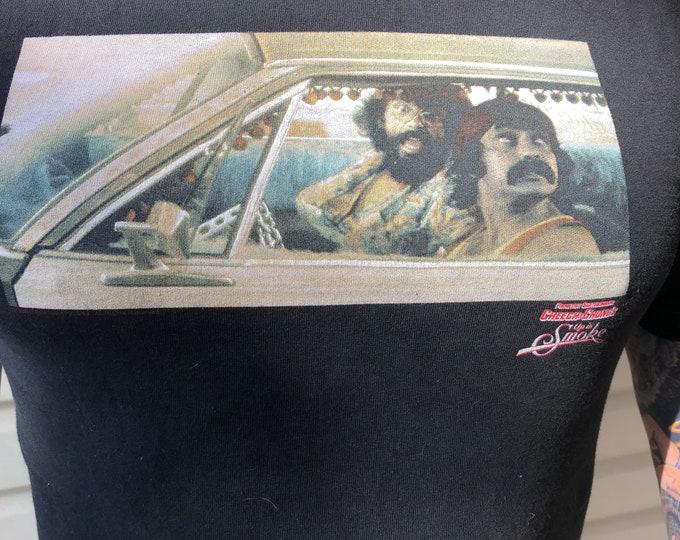 Cheech and Chong Up in Smoke TShirt (M)  Primitive Label Tommy Chong Cheech Marin Comedy Weed Stoner Marijuana Pot Reefer Smoking Snoop Dogg