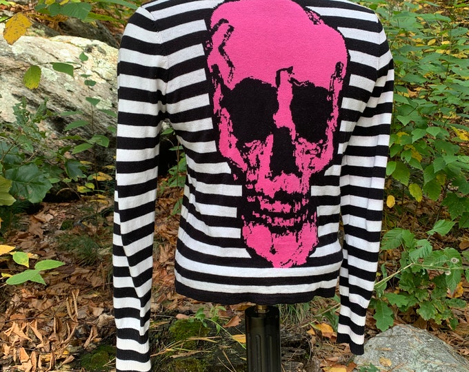 Ladies (M) Too Fast  Rockabilly Skull Sweater Psychobilly Tiger Army Pinup Koffin Kats Stray Cats The Cramps Creepy Girls Gothic Goth Girls