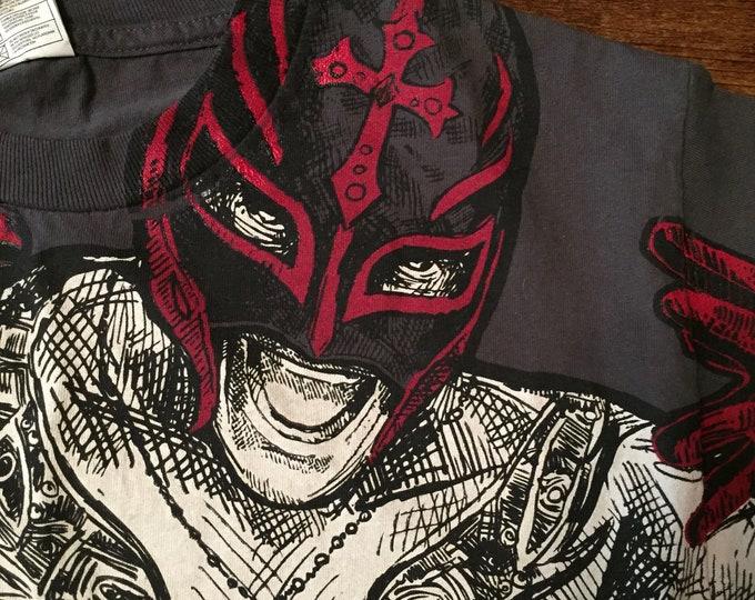 WWE Rey Mysterio Jr Wrestling shirt (Youth LG)  Monday Night Raw Smackdown Lucha Luchador LichaLibre wrestler NXT Mil Mascaras Mask Kalisto