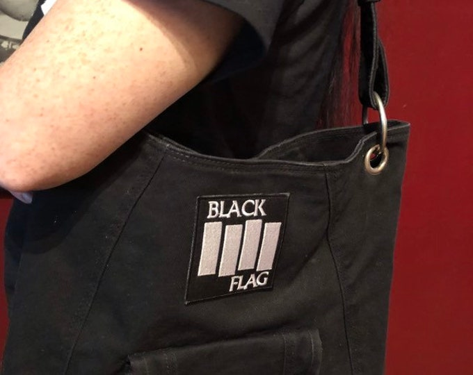 Black Flag canvas cross body bag tote - Danzig Punk Patch Sex Pistols Ramones Misfits Punk punks punkrock punkrocker Circle jerks Misfits