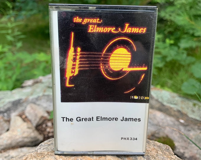 Vintage The Great Elmore James Cassette Tape Muddy Waters Willie Dixon BB King Robert Johnson Buddy Guy Blues Leadbelly John Lee Hooker
