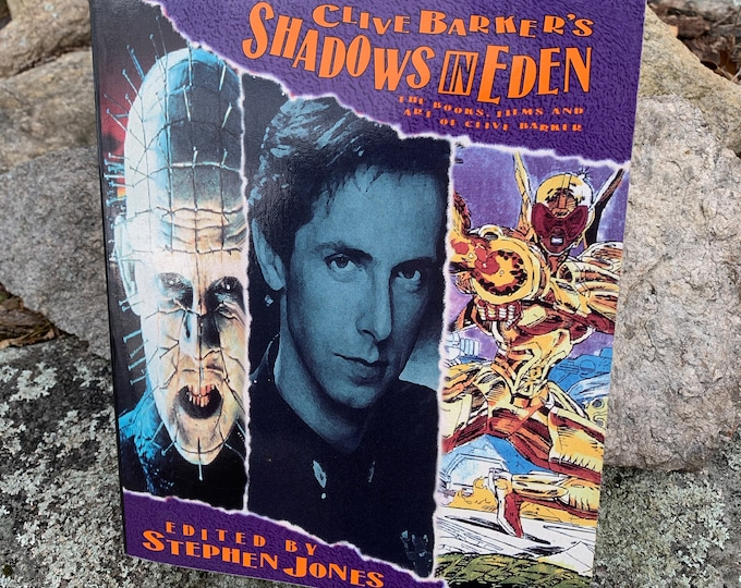 Clive Barker Shadows In Eden Softcover Book 1992 Occult Novel Ritual Witch Witchcraft Michael Myers Hellraiser Serial Killers Wes Craven