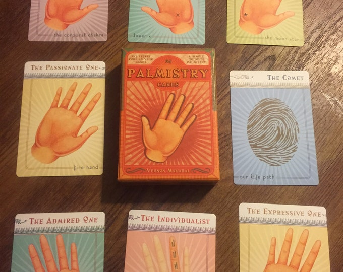 Palmistry Card Set by Vernon Mahabal - 2002 - Witch Occult Palm Reading Psychic Fate and Fortune