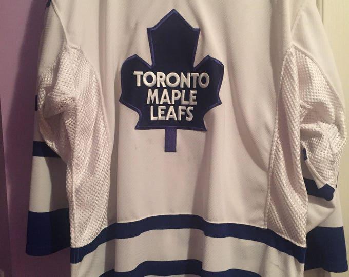 Vintage 90s Authentic Toronto Maple Leafs NHL Hockey Jersey - CCM w/ Fight Strap Stanley Cup MapleLeafs Toronto Sports Tyler Bozak Canada