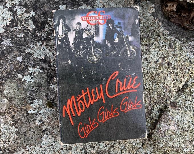 Vintage Motley Crue Girls Girls Girls SINGLE Cassette Tape Nikki Sixx Mick Mars Vince Neil Tommy Lee The Dirt Dr Feelgood Shout At The Devil