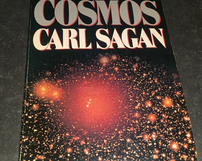 Vintage 1980 Carl Sagan Cosmos 1st Edition Paperback Book Science Physicist Albert Einstein Nikola Tesla Thomas Edison Philosophy Black Hole