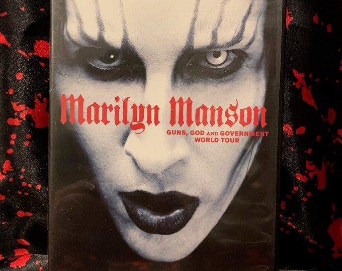 Marilyn Manson Guns God & Government World Tour DVD Shock Rock Rob Zombie Alice Cooper KISS Static X Coal Chamber Fear Factory Ministry NIN