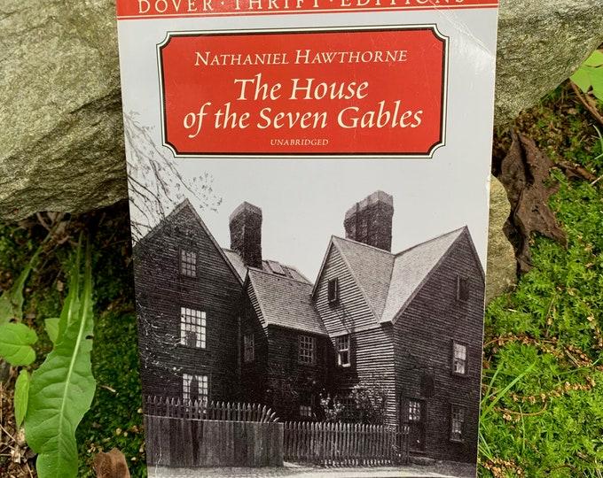 Vintage 1999 The House Of The Seven Gables Nathaniel Hawthorne Softcover Book GothicWriter Novel Horror Edgar Allan Poe Salem Massachusetts