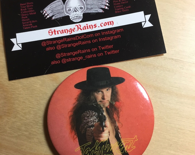 Ted Nugent  Wango Tango Pin Badge Scream Dream Official Tour Merch Stranglehold Gibson Guitars Spirit of the Wild Cat Scratch Fever Hunting