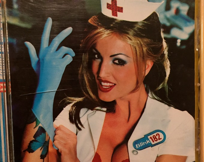 Blink 182  Enema of the State CD  Pop Punk Janine Lindemulder Tom DeLonge Travis Barker Mark Hoppus  Whats my Age Again Green Day Sum 41